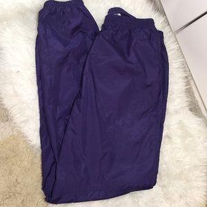 Vintage Nike windbreaker nylon laker purple pants